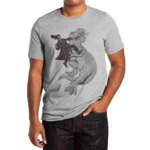 Threadless   Gray Graphic T-Shirt